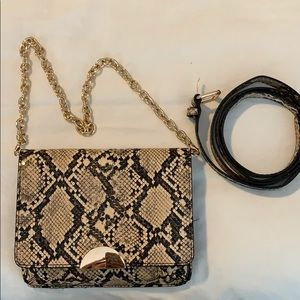 a new day Snake-Print Belt Bag with Gold Chain